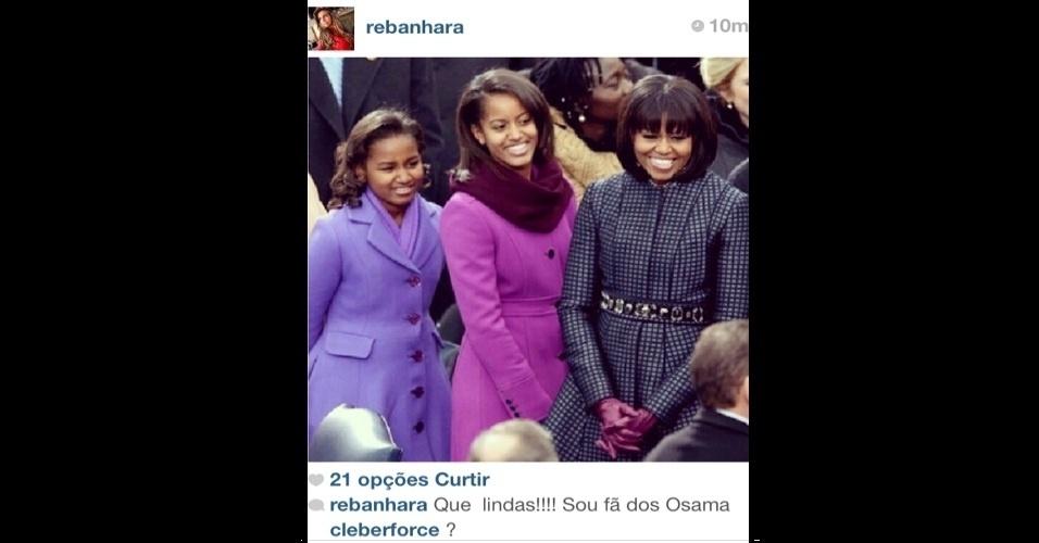 """22.jan.2013 - A modelo Renata banhara cometeu uma gafe durante a posse do presidente americano Barack Obama. Ao comentar sobre a família do político no Instagram, ela trocou """"Obama"""" por """"Osama"""" - nome de um terrorista famoso que foi perseguido e morto pelos EUA. A imagem foi excluída depois que várias pessoas comentaram"""