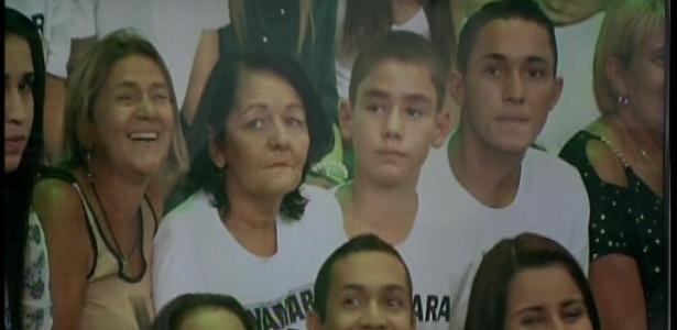 22.jan.2013 - Familiares de Anamara durante o paredão
