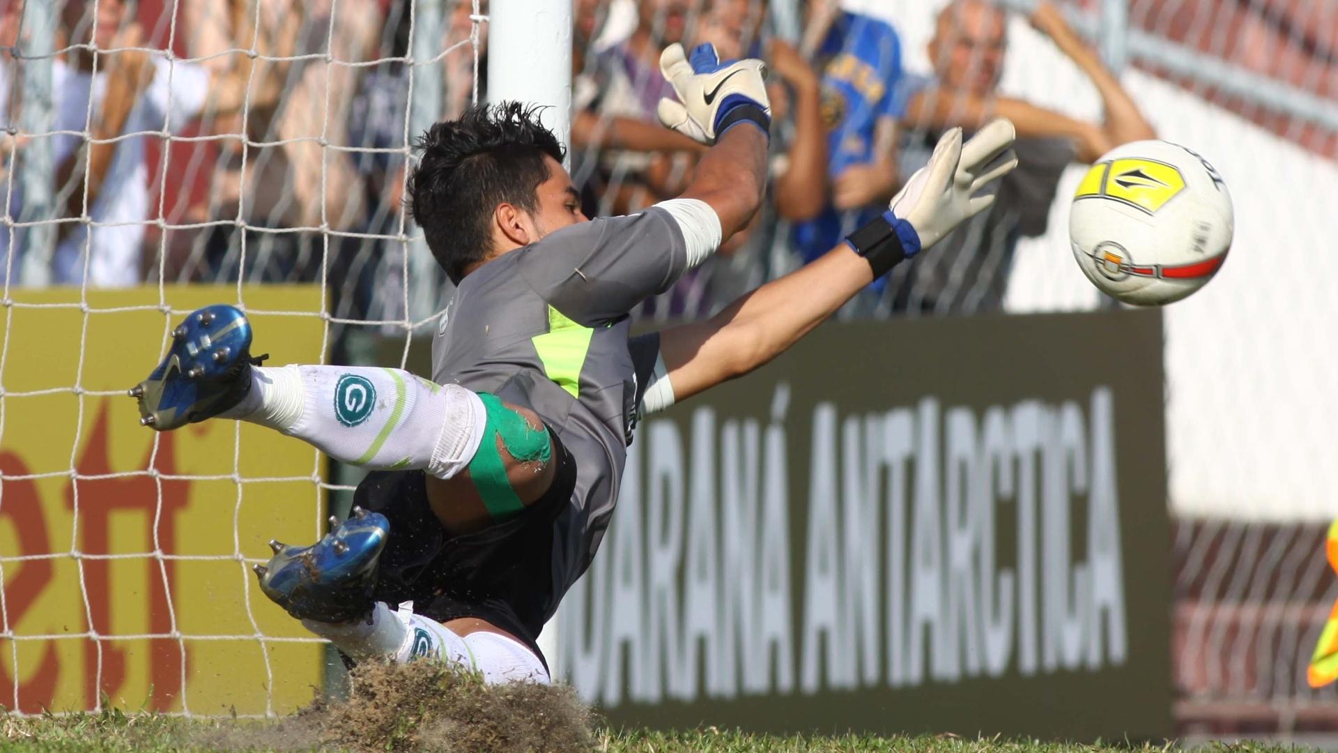 22.jan.2013 - Goleiro Paulo Henrique, do Goiás, defende pênalti contra o Bahia na semifinal da Copa São Paulo