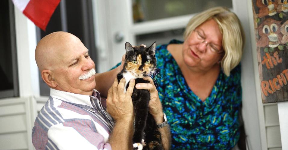 23.jan.2013 - Gatinha Holly se perdeu dos donos durante viagem e caminhou 305 km pela Flórida (EUA) para voltar para casa sozinha