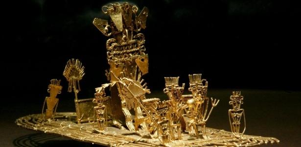 Arqueólogos afirmam que o mito da cidade perdida feita de ouro foi mal interpretado. Para o povo muiscas, El Dorado não era um lugar, mas um líder muito rico que se cobria de pó de ouro - Daniel Munoz/Reuters