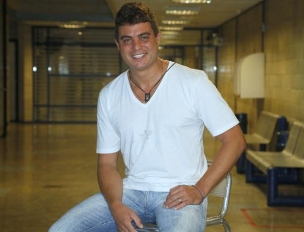 23.jan.2013 - Coletiva de imprensa com o eliminado, Dhomini, 'Big Brother Brasil 13', no Projac ? RJ
