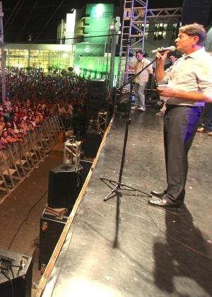 Governador do Ceará, Cid Gomes (PSB), discursa durante inauguração Hospital Regional Norte, em Sobral