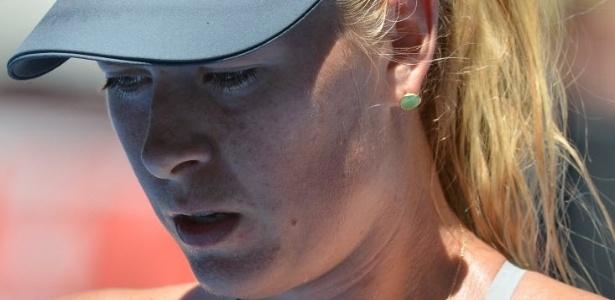 24.jan.2013 - Maria Sharapova lamenta a eliminação para Na Li, em duplo 6-2, na semifinal do Aberto da Austrália
