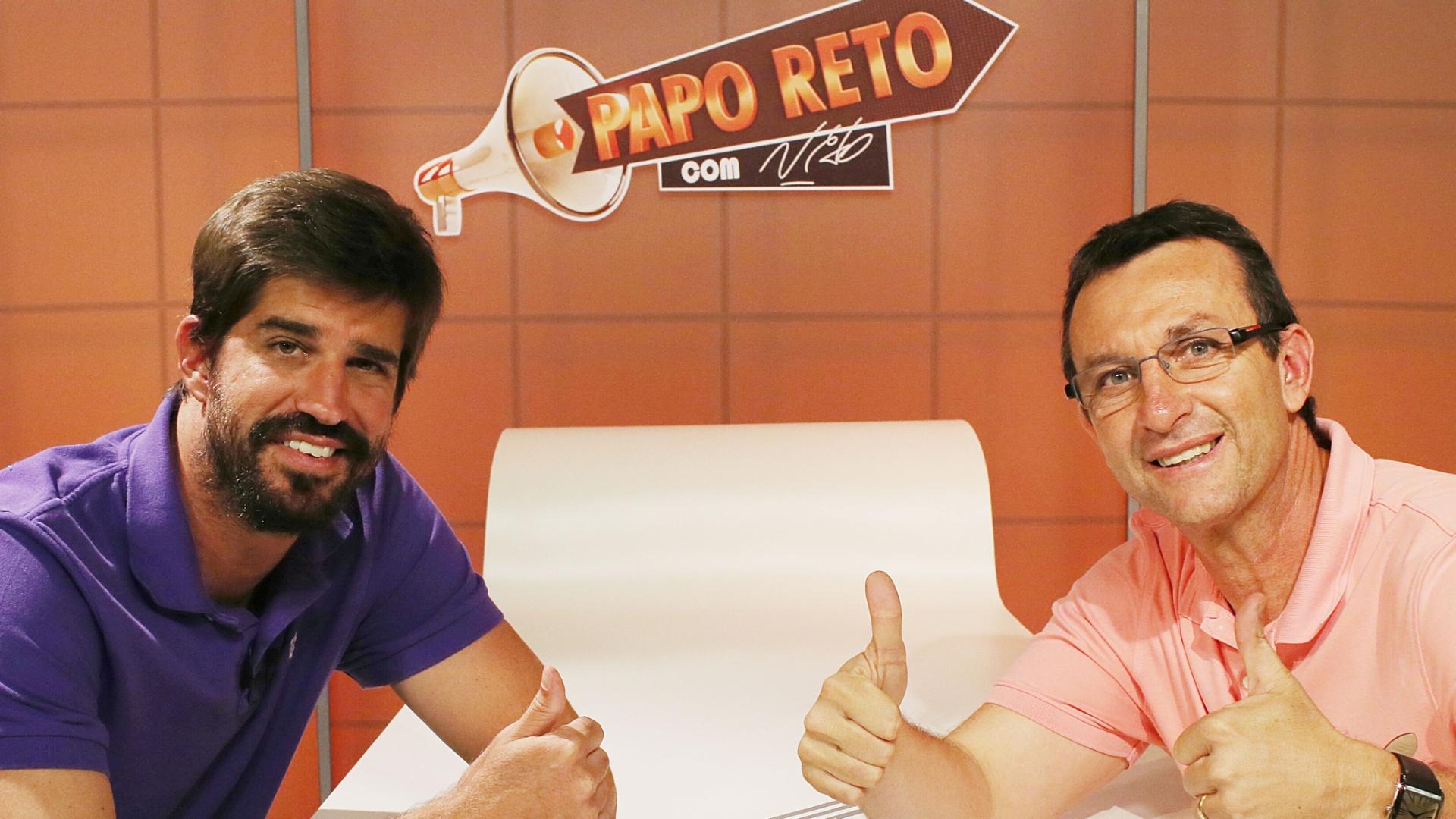 Ex-tenista Flávio Saretta é entrevistado por Neto no programa