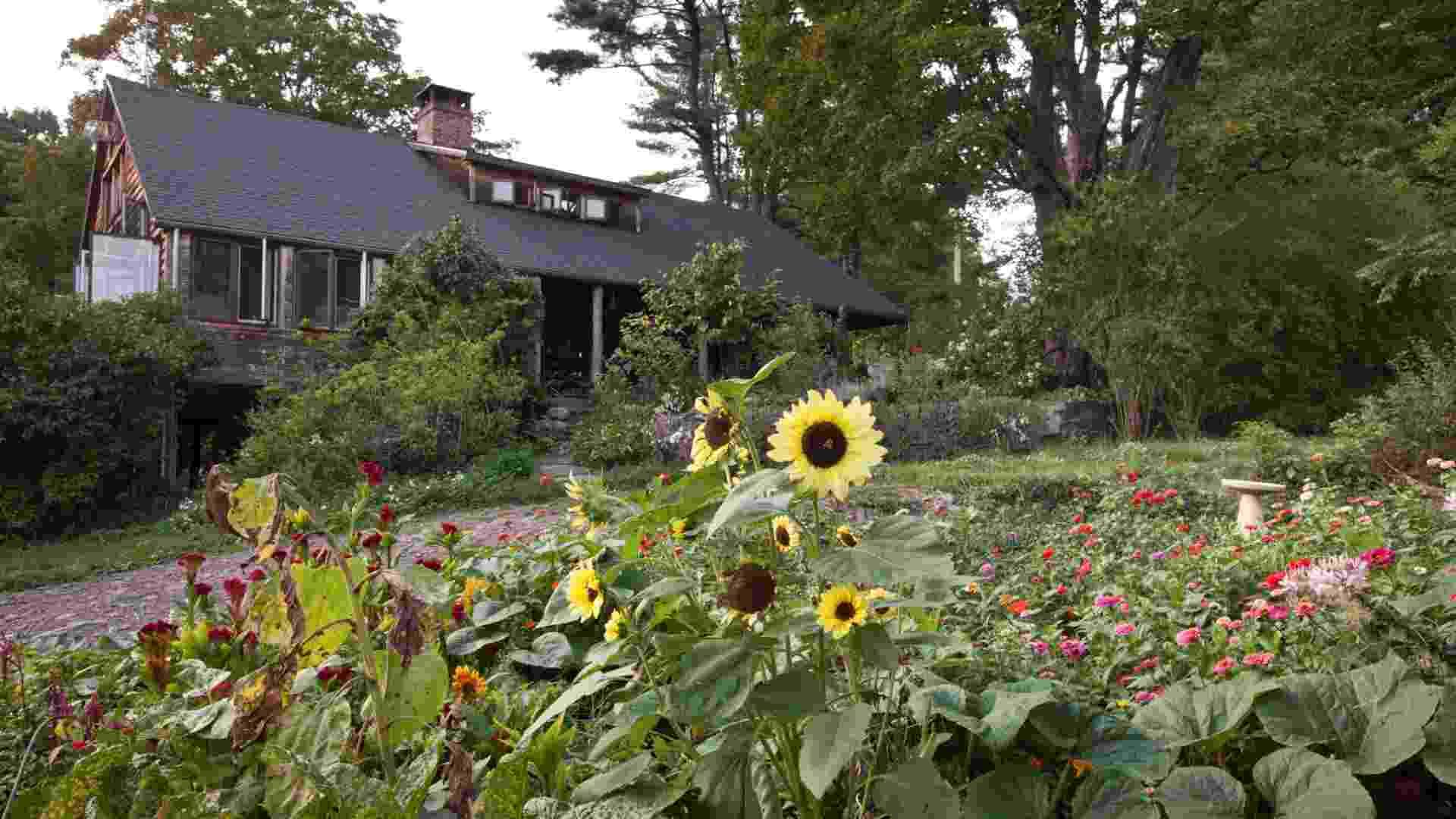 A casa de fazenda com cerca de 300 anos de idade está na família da artista plástica Portia Munson desde o início do século 20. A residência antes era utilizada como cabana para caçadas (Imagem do NYT, usar apenas no respectivo material) - Tony Cenicola/ The New York Times