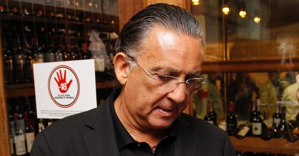 Galvão Bueno em evento da Miolo Wine Group