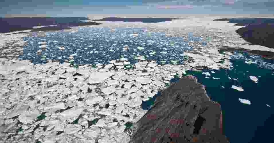 Se as calotas de gelo derreterem, os países ficarão inundados? Parcialmente - Ian Joughin/University of Washington
