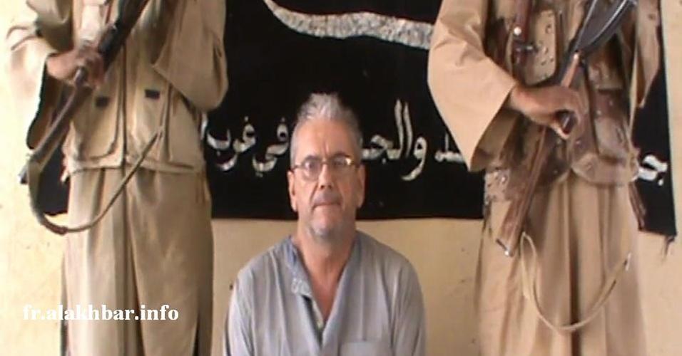 26.jan.2013 - O Movimento para a Unidade e a Jihad na África Ocidental (Muyao) afirmou neste sábado (26) que está disposto a negociar a liberação do refém francês Gilberto Rodriguez Leal, que está sequestrado no Mali há dois meses