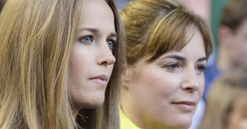 27.jan.2013 - Kim Sears, namorada de Andy Murray, acompanha a final do Aberto da Austrália