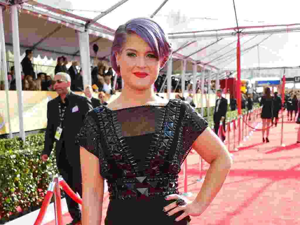 27.jan.2013 - A cantora e apresentadora Kelly Osbourne chega ao prêmio Screen Actors Guild Awards em Los Angeles - Getty Images
