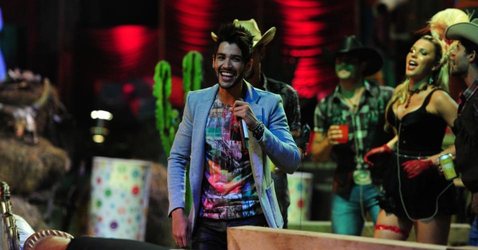 """26.jan.2013 - Gusttavo Lima faz show no """"BBB13"""""""