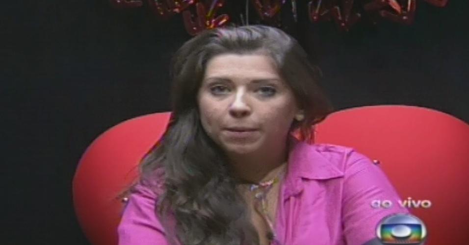 """27.jan.2013 - Andressa escolhe Kamilla para o terceiro paredão do """"BBB13"""" por falta de afinidade"""