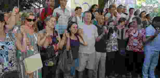 Familiares e amigos participam de ato ecumênico em homenagem às vítimas do incêndio em Santa Maria (RS) - Luis Gonçalves/AgenciaPreview