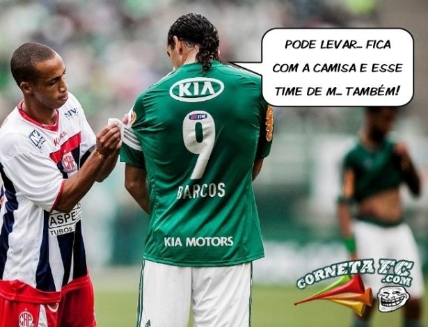Corneta FC: Após novo vexame, Barcos desiste do Palmeiras