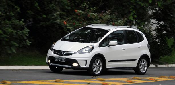 Honda Fit Twist: se for comprar um, fica a dica: o branco caiu bem nessa versão... - Murilo Góes/UOL
