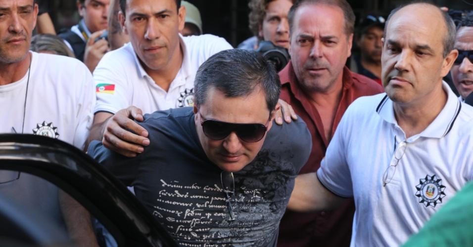 29.jan.2013 - Um dos donos da boate Kiss, o empresário Mauro Hoffmann, foi preso ontem em Santa Maria