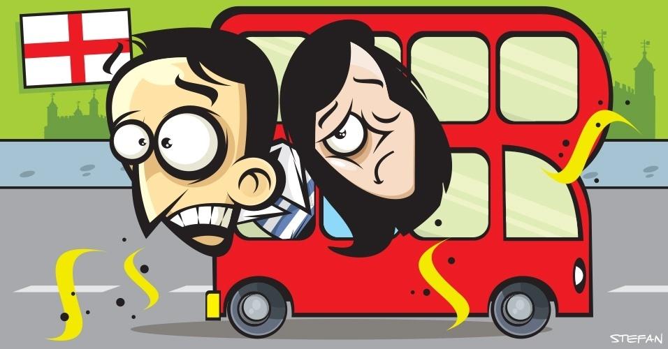 Nos ônibus de Londres, é comum sentir cheiro de curry dentro de ônibus que têm como destino os bairros mais periféricos e onde moram imigrantes. Evite fazer comentários sobre o odor
