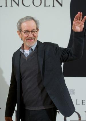"""Steven Spielberg na sessão de fotos de divulgação de """"Lincoln"""" na Casa de America, em Madri - Carlos Alvarez/Getty Images"""