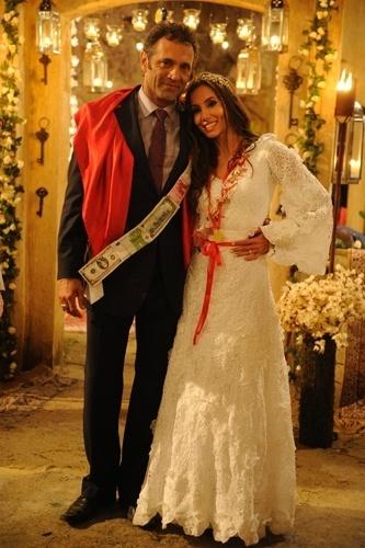 Casamento de Ayla (Tânia Khallil) e Zyah (Domingos Montagner) em