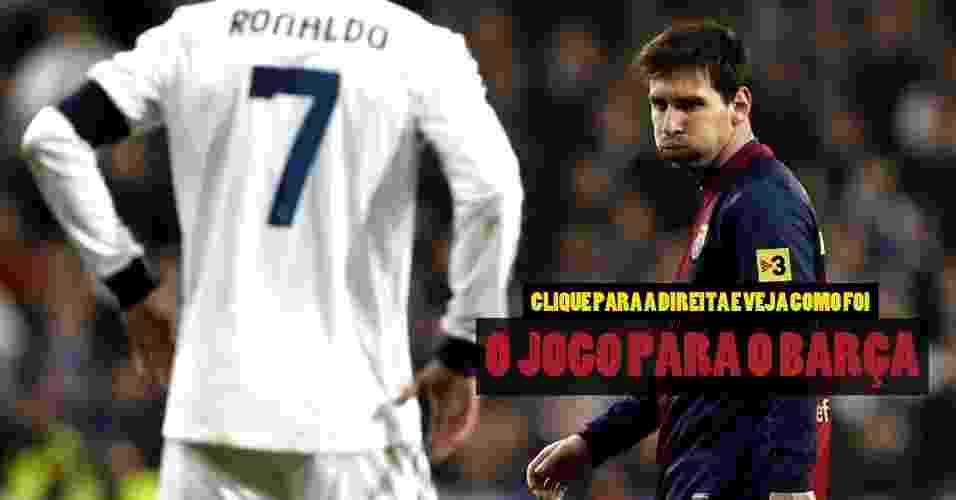 Clique para a direita e veja como foi o jogo para o Barcelona - Arte/UOL