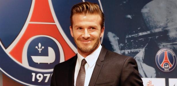 David Beckham foi apresentado como o novo reforço do Paris Saint-Germain - REUTERS/Philippe Wojazer