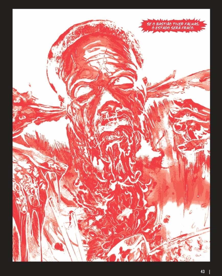 """Ilustração de anomalia criada em centro de biotecnologia na versão graphic novel de """"A Arte da Guerra"""""""