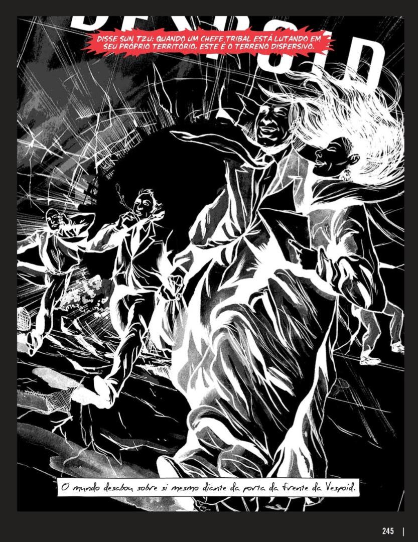 """Ilustração de Michael DeWesse na versão graphic novel de """"A Arte da Guerra"""""""
