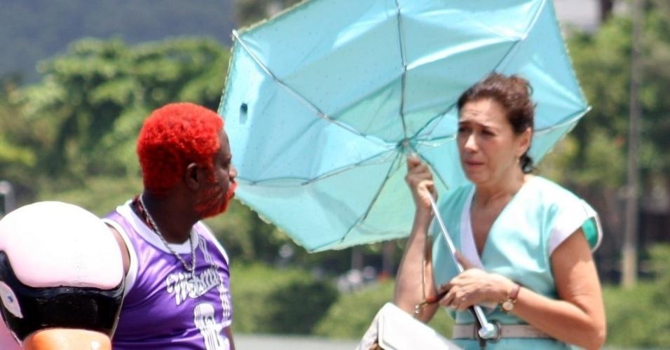 1.fev.2013 - Lília Cabral gravou cenas da comédia