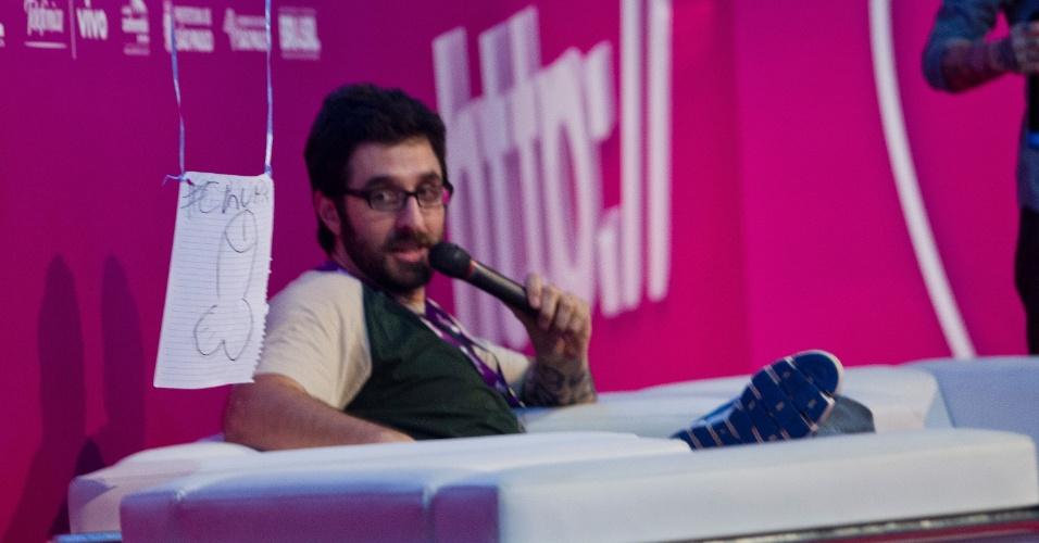 1.fev.2013 - O humorista Rafinha Bastos (foto) foi entrevistado por PC Siqueira, que se tornou conhecido por seus videologs (vlogs)
