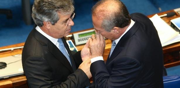 Senadores Jorge Viana (PT-AC) e Renan Calheiros (PMDB-AL) no Senado: times de futebol pedem ajuda - Alan Marques/Folhapress