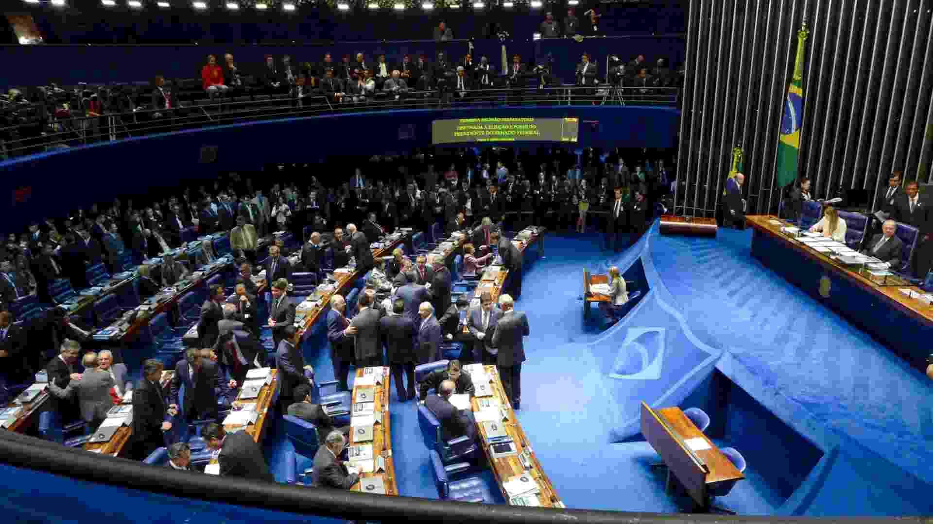 1º.fev.2013 - Vista geral do plenário durante sessão deliberativa ordinária para eleição do novo presidente do Senado - Paula Cinquetti/Agência Senado