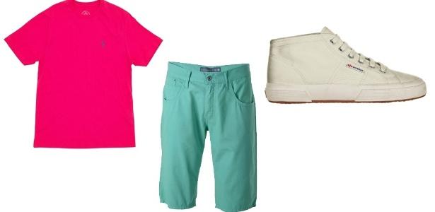 Cores fortes em contraste estão na moda, aproveite o Carnaval para homenagear sua escola de samba preferida, como na combinação verde e rosa da Mangueira - Divulgação