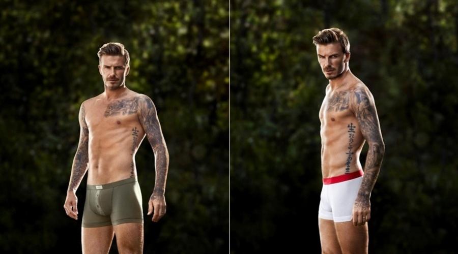 5.jan.2013 - David Beckham é a estrela da campanha de cuecas da loja H&M. Novas imagens do ensaio feito pelo jogador foram divulgadas