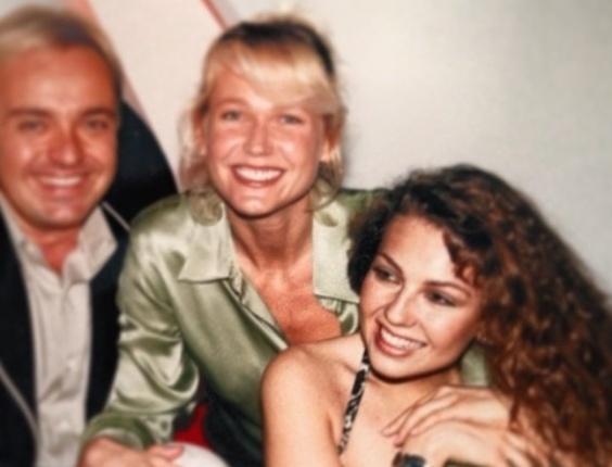 5.jan.2013 - Gugu Liberato divulgou uma imagem antiga onde aparece ao lado de Xuxa e da cantora Thalia