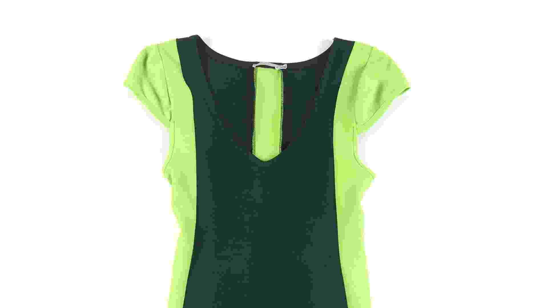 Vestido preto com contornos verde neon; R$ 149, na Agatha (www.agatha.com.br). Preço pesquisado em janeiro de 2013 e sujeito a alterações - Divulgação