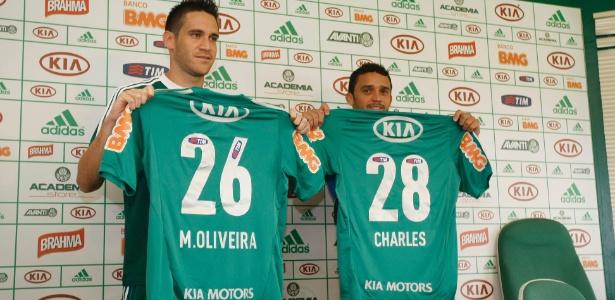 Marcelo Oliveira e Charles trocaram o Cruzeiro pelo Palmeiras