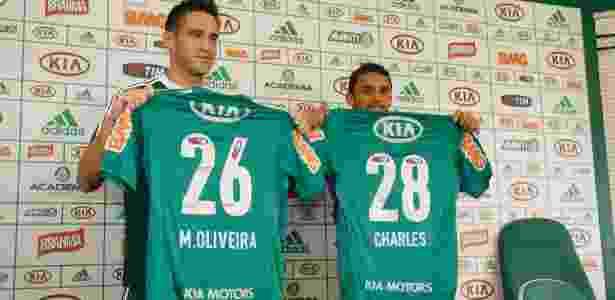 Marcelo Oliveira e Charles trocaram o Cruzeiro pelo Palmeiras - Luiz Carlos Murauskas/Folhapress