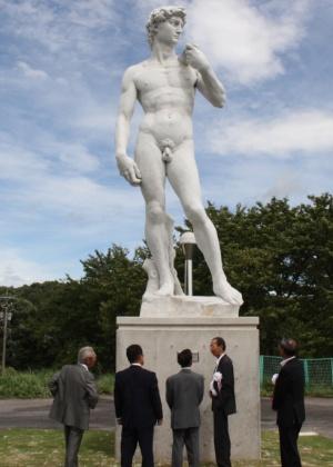 28.ago.2012 - Réplica de David de Michelangelo em Okuizumo, no Japão - AFP