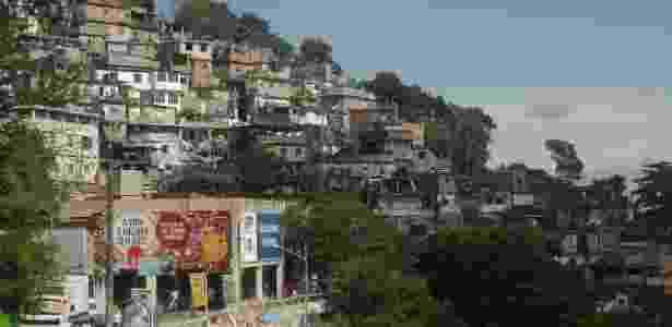 Favela do Morro dos Prazeres, no Rio de Janeiro, onde turista foi atingida - Tânia Rêgo/ABr