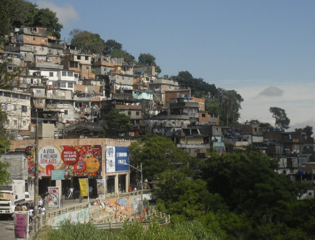 Favela do Morro dos Prazeres, no Rio de Janeiro, onde turista foi atingida