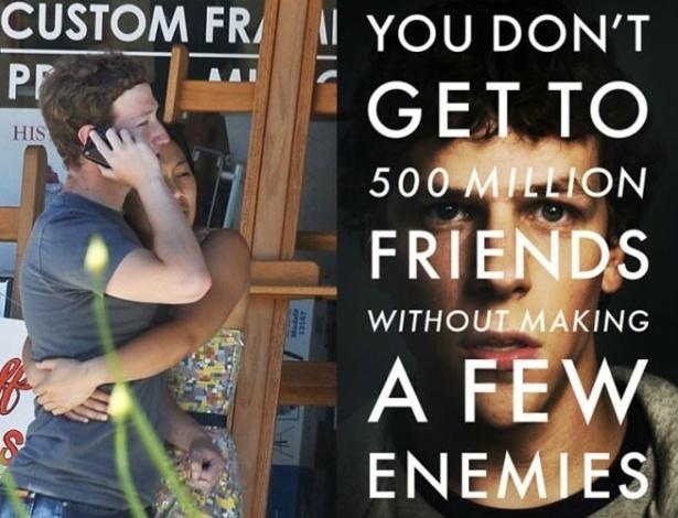 """Mark Zuckerberg, fundador do Facebook, foi vítima de paparazzi nos EUA em 2010. O criador da rede social, criticada sucessivamente pelas brechas de segurança e falta de privacidade dos usuários, foi seguido durante um final de semana por Nick Stern. O fotógrafo conseguiu alguns flagrantes de cenas triviais, como Zuckerberg e sua então namorada, Priscilla Chan. Sua intimidade foi ainda mais escancarada com o filme """"A Rede Social'', de David Fincher, que conta a história do Facebook (e, consequentemente, de seu criador)"""