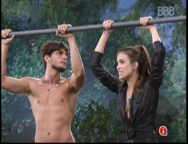 8.fev.2013 - André e Kamilla permanecem na prova pela liderança