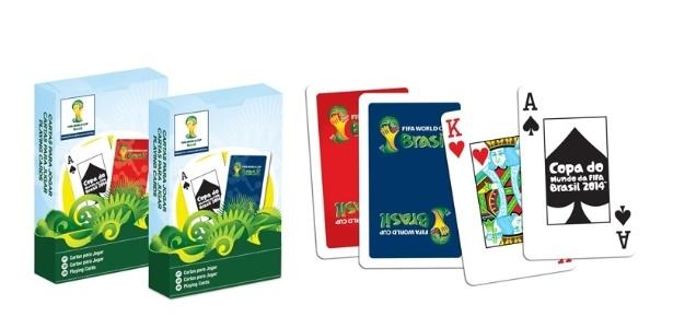 O baralho oficial da Copa, produzido pela Copag, chegará ao mercado no fim deste mês