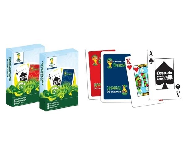 Jogo de baralho da Copa, feito pela Copag, que chegará ao mercado no fim de fevereiro deste ano