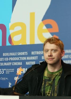 Grint participa da entrevista coletiva no Festival de Berlim, em fevereiro - Andreas Rentz/Getty Images