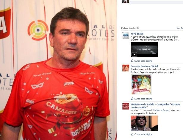Ex-presidente do Corinthians Andrés Sanchez também aproveitou o sábado de carnaval em São Paulo