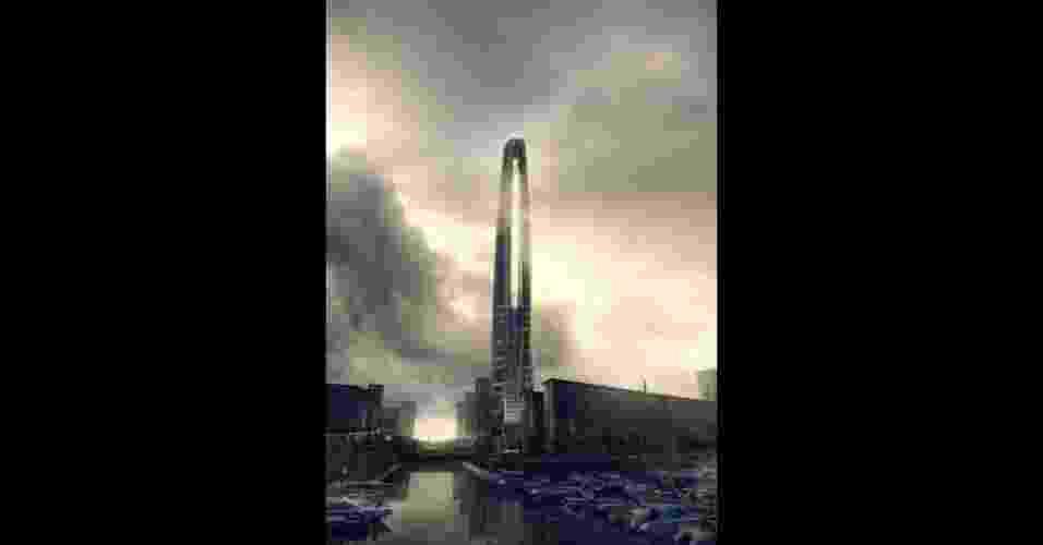 """""""Torre que respira"""", prédio de 75 andares em Wujiang, China - BBC"""