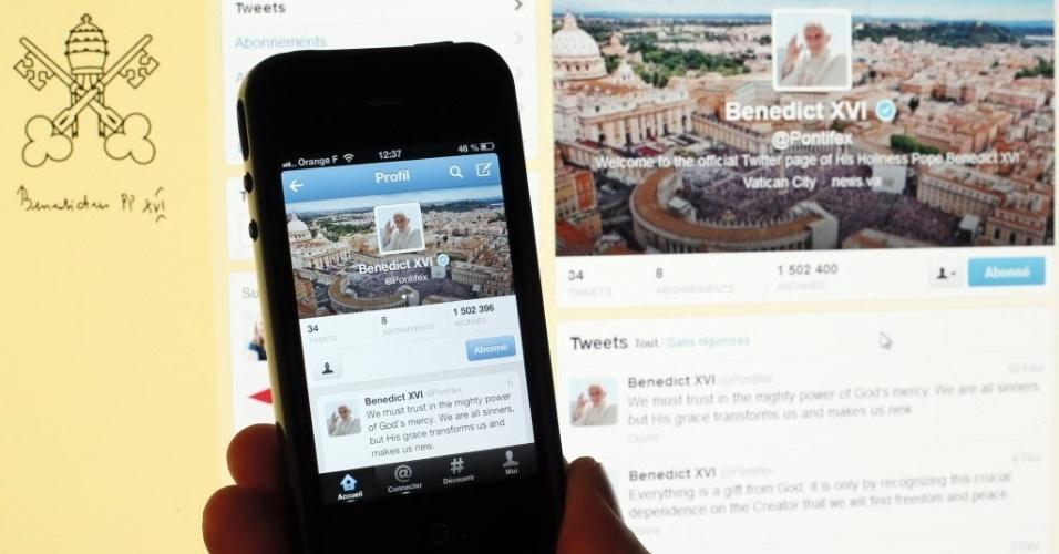11.fev.2013 -  A conta do papa Bento 16 no Twitter ficou desatualizada horas depois do anúncio da renúncia. Ao contrário de outras personalidades, o santo padre não utilizou esse rede social como forma de difundir a notícia