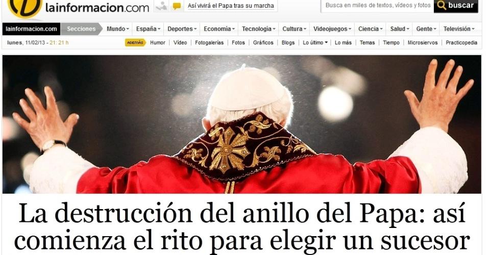 Destaque do site espanhol